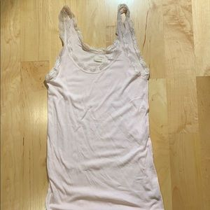 Aerie light pink tank with lace Sz: S